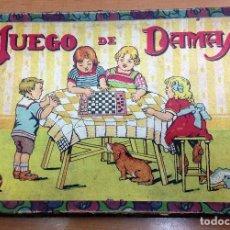 Juegos de mesa: ANTIGUA JUEGO DE DAMAS CAJA DE CARTON FICHAS DE MADERA . Lote 121250687