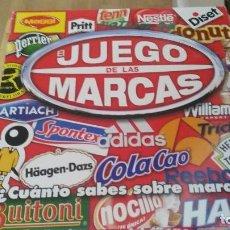 Juegos de mesa: EL JUEGO DE LAS MARCAS. DISET 2010. ORIGINAL. COMPLETO. NUEVO. TABLERO, 6 PEONES, 396 TARJETAS.. Lote 121428479