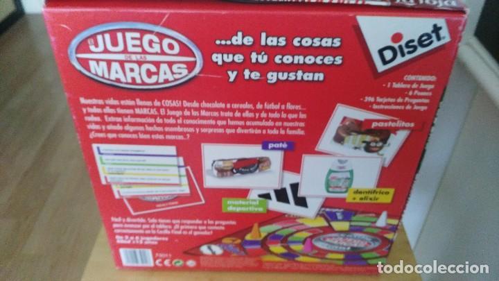 Juegos de mesa: EL JUEGO DE LAS MARCAS. DISET 2010. ORIGINAL. COMPLETO. NUEVO. TABLERO, 6 PEONES, 396 TARJETAS. - Foto 2 - 121428479