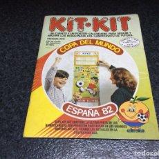 Juegos de mesa: KIT-KIT, CALENDARIO PARA SEGUIR Y ANOTAR LOS RESULTADOS DEL CAMPEONATO, DE FUTBOL ESPAÑA 82 JUEGO. Lote 121439915