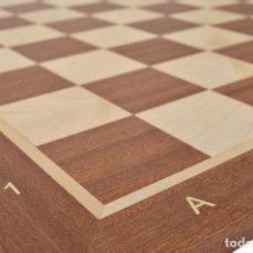 Juegos de mesa: TABLERO AJEDREZ NOGAL A ESTRENAR. Lote 121611155