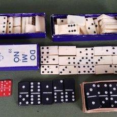 Juegos de mesa: COLECCIÓN DE 6 CAJAS DE DOMINÓ EN MINIATURA. HUESO RESINA Y MADERA. CAPELL. SIGLO XX. . Lote 121699807