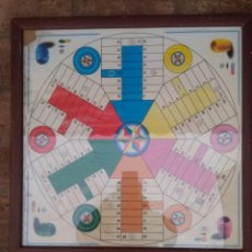 Juegos de mesa: GRAN PARCHIS DE SEIS JUGADORES, 53 CM. Lote 121835983