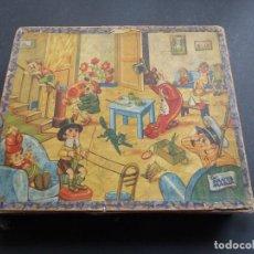 Juegos de mesa: ANTIGUO ROMPECABEZAS LA SANTA MARIA - 6 ESCENAS - CON CAJA Y 5 LAMINAS - AÑOS 1940. Lote 121887811