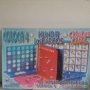 Juegos de mesa: CAJA CON TRES JUEGOS / JUEGO COLOCA 4 / MAS HUNDIR LOS BARCOS / MAS CUÁL ES CUÁL FALOMIR. Lote 121934227