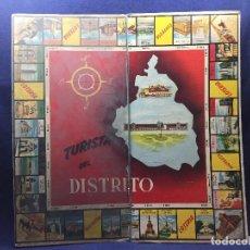 Juegos de mesa: TABLERO DOBLE JUEGO TURISTA DEL DISTRITO PALÉ CARTÓN AÑOS 30/40 S XX. Lote 121940003