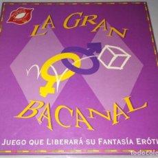 Juegos de mesa: LA GRAN BACANAL JUEGO DE MESA EROTICO. Lote 122912279