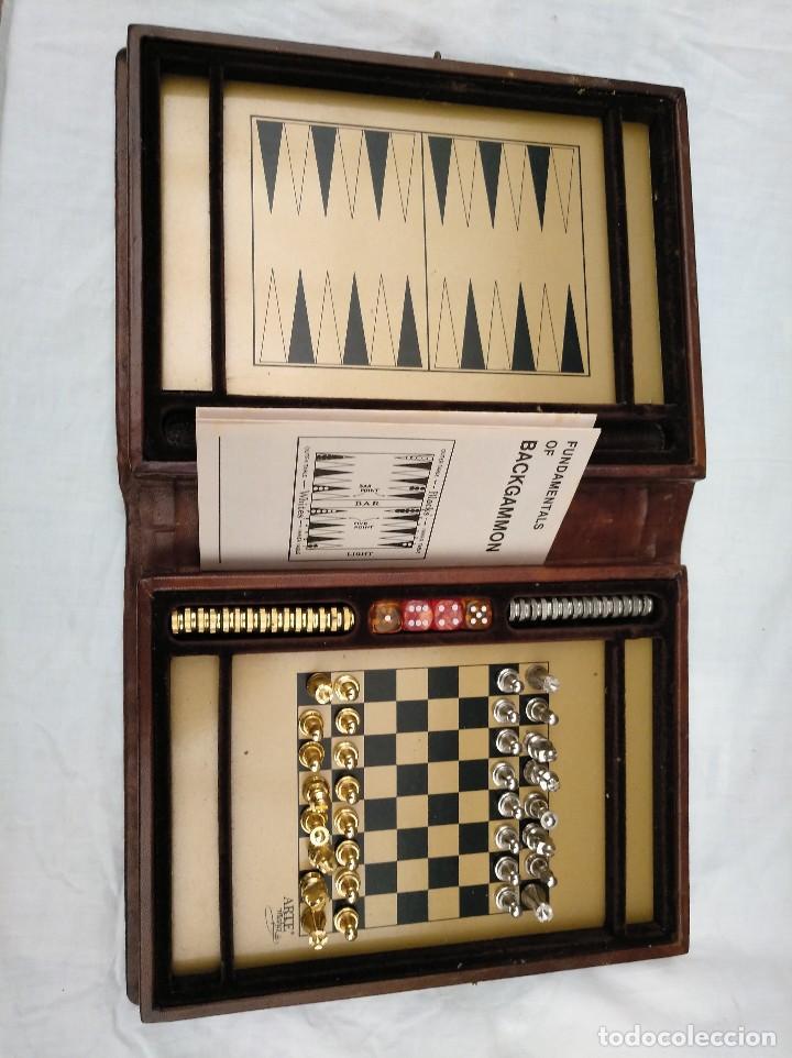 Elegante Juego De Ajedrez Y Backgammon En Estuc Comprar Juegos De