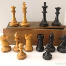 Juegos de mesa: AJEDREZ ORIGINAL DE SALA DE AJEDREZ GRAN PEÑA - MADRID - 1920 - HECHO A MANO. Lote 123376363