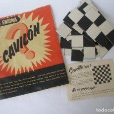 Juegos de mesa: ANTIGUO SOBRE ENIGMA CAVILÓN GEYPER. Lote 124454863