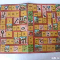 Juegos de mesa: ANTIGUO TABLERO CARTÓN CARRERA DE AUTOS JUEGOS REUNIDOS BORRÁS. Lote 124473451