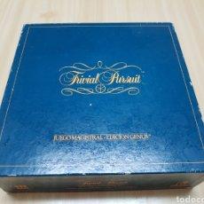 Juegos de mesa: TRIVIAL PURSUIT - JUEGO MAGISTRAL - EDICION GENUS - 1984 - DISET. Lote 125139628