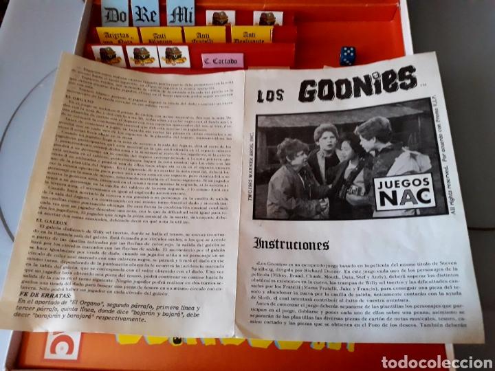 Juegos de mesa: Juego de mesa Los Goonies de Nac (año 1985). Completo. - Foto 6 - 125217854