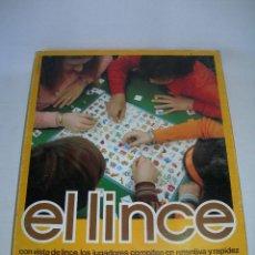 Juegos de mesa: DIFÍCIL JUEGO DE MESA EL LINCE DE JUEGOS EDUCA DEL AÑO 1976 - TOTALMENTE COMPLETO -. Lote 125319847