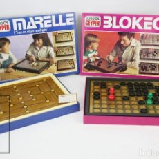 Juegos de mesa: PAREJA DE JUEGOS DE MESA - BLOKEO / MARELLE - GEYPER, AÑOS 70. Lote 125409483