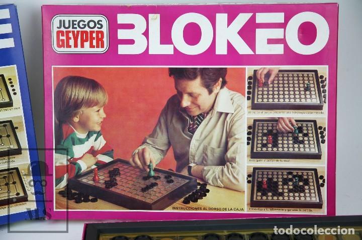 Juegos de mesa: Pareja de Juegos de Mesa - Blokeo / Marelle - Geyper, Años 70 - Foto 2 - 125409483