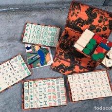 Juegos de mesa: ANTIGUO JUEGO DE MAH - JONGG DE AGAPITO BORRÁS MATARÓ BARCELONA AÑO DE 1925 - VICENTE SOTELO MATTI. Lote 125953871