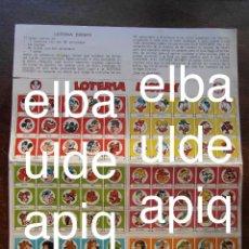 Juegos de mesa: JUEGO LOTERIA DE DISNEY. CLUB DON MIKI. 1976. Lote 126458819