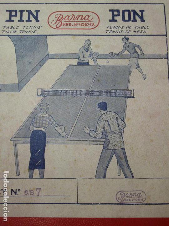 Juegos de mesa: JUEGO DE PIN-PON - PING-PONG - MARCA BARNA - Foto 13 - 126558519