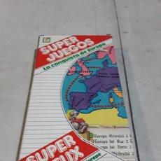 Juegos de mesa: SUPER JUEGOS LA CONQUISTA DE EUROPA CHICOS AÑOS 80. Lote 127160670