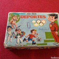 Juegos de mesa: ANTIGUO DOMINÓ DE LOS DEPORTES PIQUE AÑOS 60' COMPLETO. Lote 127207572