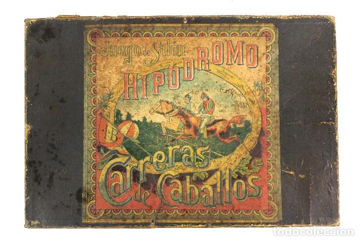HIPODROMO , CARRERA DE CABALLOS. JUEGO DE SALÓN. (Juguetes - Juegos - Juegos de Mesa)