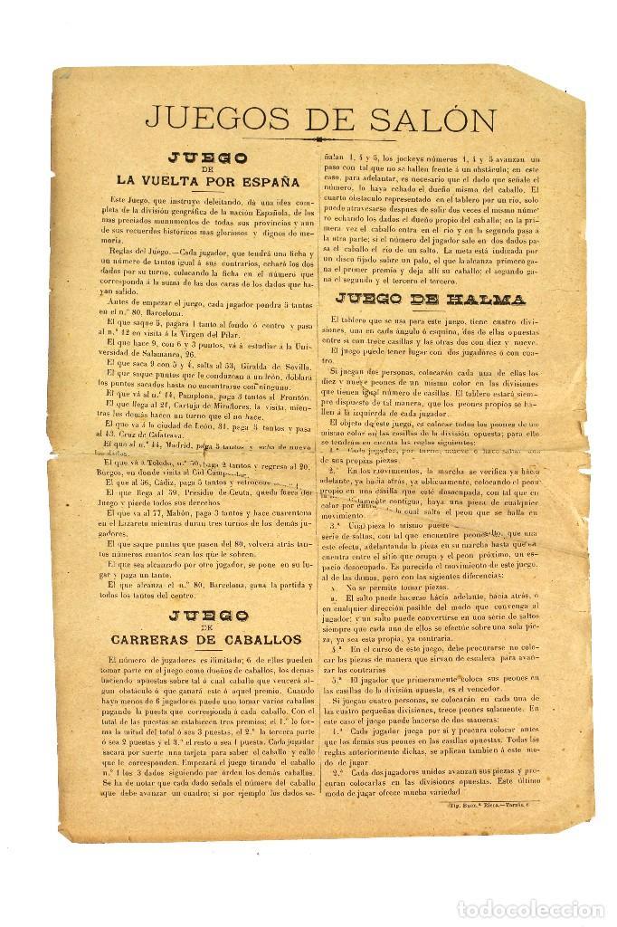 Juegos de mesa: HIPODROMO , CARRERA DE CABALLOS. JUEGO DE SALÓN. - Foto 5 - 127618731
