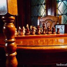 Juegos de mesa: LOTE DE AJEDREZ DE LUJO! MESA/SILLAS/TABLERO/PIEZAS/RELOJ DE MAXIMA CALIDAD. Lote 127904167