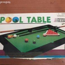 Juegos de mesa: POOL TABLE, PEQUEÑA MESA DE BILLAR. Lote 127927763