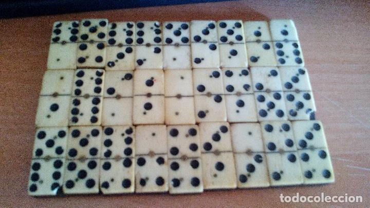 Antiguo Domino En Madera Y Hueso Principios S Comprar Juegos De