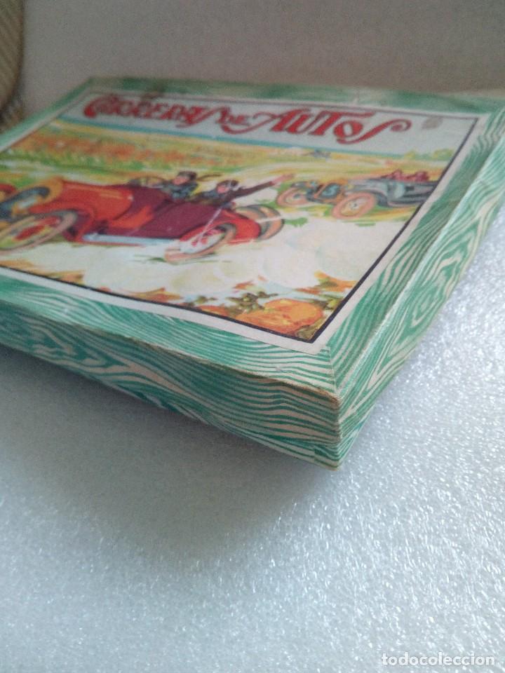 Juegos de mesa: Raro juego carreras de autos borras, años 20-30 creo, tablero,6 fichas,2 dados e instrucciones - Foto 8 - 128249907