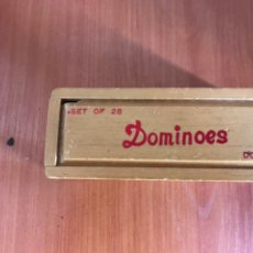 Juegos de mesa: DOUBLE SIX PROFESSIONAL DOMINO TILES DOMINOES GAME SET WITH WOODEN. Lote 128488859