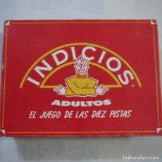Juegos de mesa: INDICIOS ADULTOS. EL JUEGO DE LAS DIEZ PISTAS - PUBLIJUEGO . Lote 128823359