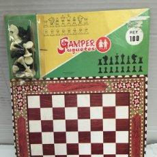 Juegos de mesa: JUEGO DE AJEDREZ AÑOS 70 DE JUGUETES GAMPER. Lote 129042823