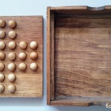 Juegos de mesa: SOLITARIO DE MADERA JUEGO DE ESTRATEGIA. Lote 129254715