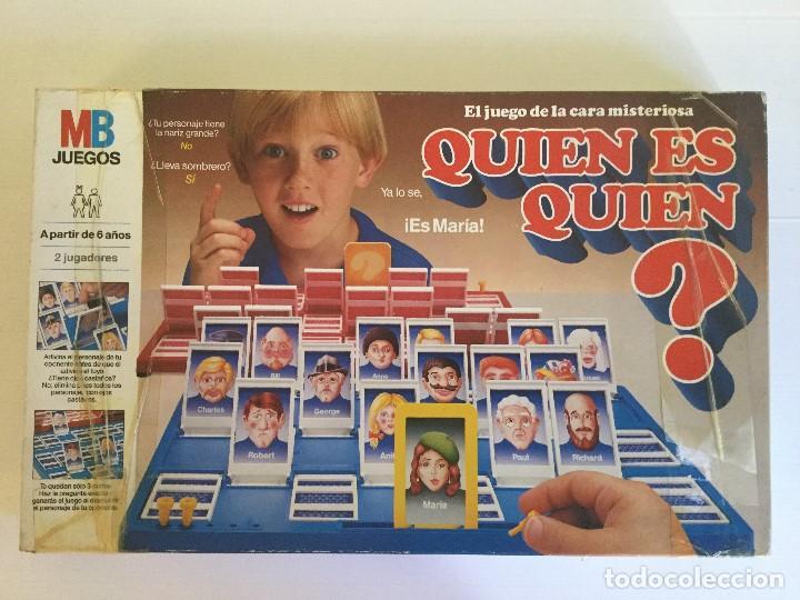 Juego De Mesa Quien Es Quien De Mb Ano 1986 Comprar Juegos De