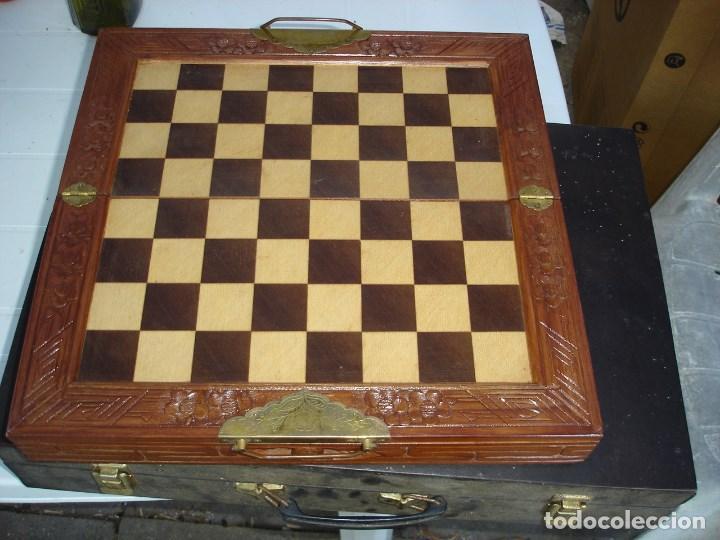 Juegos de mesa: bonito juego de ajedrez chino caja y figuras muy trabajadas de coleccion ver fotos - Foto 2 - 129684587