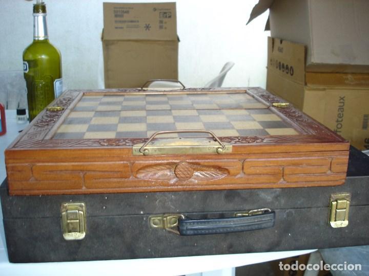 Juegos de mesa: bonito juego de ajedrez chino caja y figuras muy trabajadas de coleccion ver fotos - Foto 3 - 129684587
