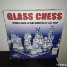 Juegos de mesa: PRECIOSO AJEDREZ EN CRISTAL GLASS CHESS. Lote 130592262