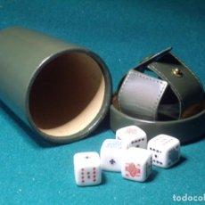 Juegos de mesa: POKER -JUEGO DADOS -PIEL. Lote 130887328