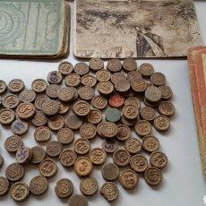 Juegos de mesa - Antiguos cartones y fichas bingo años 30 posibles juegos reunidos borras - 130972245