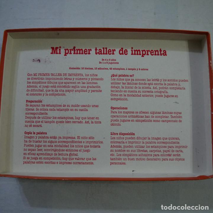Mi Primer Taller Imprenta Educa 1991 Comprar Juegos De Mesa