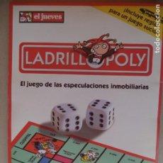 Juegos de mesa: LADRILLOPOLY.EL JUEGO DE LAS ESPECULACIONES INMOBILIARIAAS EL JUEVES. Lote 131160596