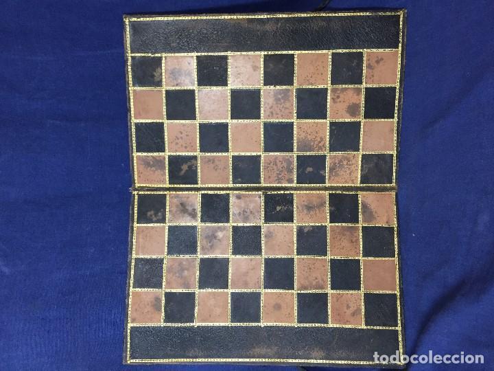 Juegos de mesa: CARPETA TABLERO PIEL DORADOS PLEGABLE FRANCIA CUARTEADA DIRECTORIO IMPERIO PPIO S XIX 36,5X23CMS - Foto 2 - 131260863