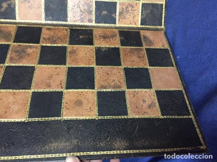 Juegos de mesa: CARPETA TABLERO PIEL DORADOS PLEGABLE FRANCIA CUARTEADA DIRECTORIO IMPERIO PPIO S XIX 36,5X23CMS - Foto 3 - 131260863