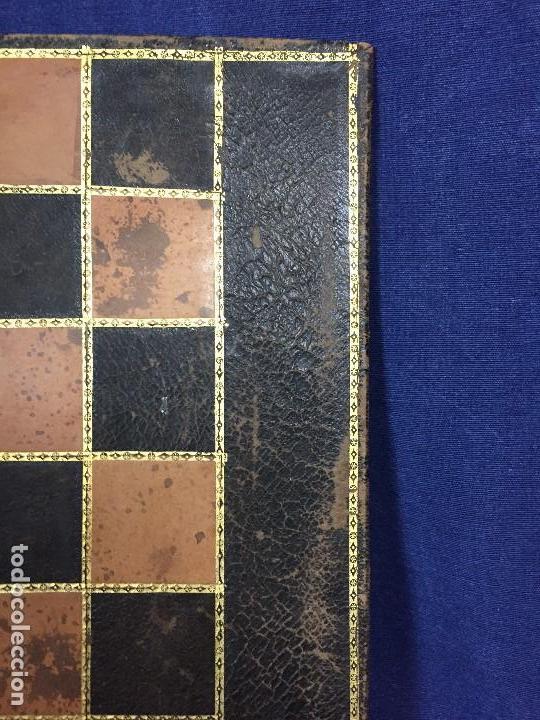 Juegos de mesa: CARPETA TABLERO PIEL DORADOS PLEGABLE FRANCIA CUARTEADA DIRECTORIO IMPERIO PPIO S XIX 36,5X23CMS - Foto 4 - 131260863