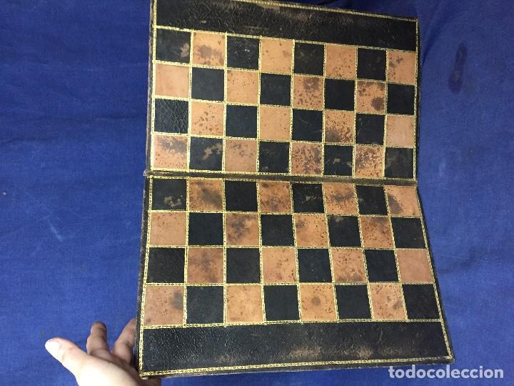 Juegos de mesa: CARPETA TABLERO PIEL DORADOS PLEGABLE FRANCIA CUARTEADA DIRECTORIO IMPERIO PPIO S XIX 36,5X23CMS - Foto 9 - 131260863