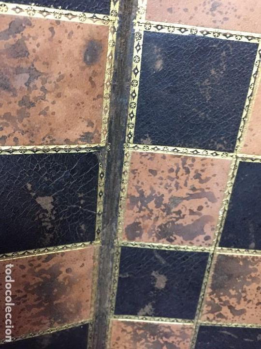Juegos de mesa: CARPETA TABLERO PIEL DORADOS PLEGABLE FRANCIA CUARTEADA DIRECTORIO IMPERIO PPIO S XIX 36,5X23CMS - Foto 11 - 131260863