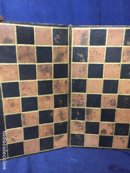 CARPETA TABLERO PIEL DORADOS PLEGABLE FRANCIA CUARTEADA DIRECTORIO IMPERIO PPIO S XIX 36,5X23CMS (Juguetes - Juegos - Juegos de Mesa)