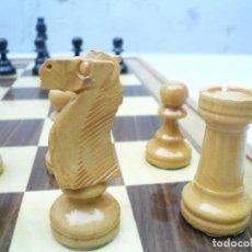 Juegos de mesa: AJEDREZ. FICHAS DE MADERA STAUNTON Nº4. COMPLETO. Lote 131718962